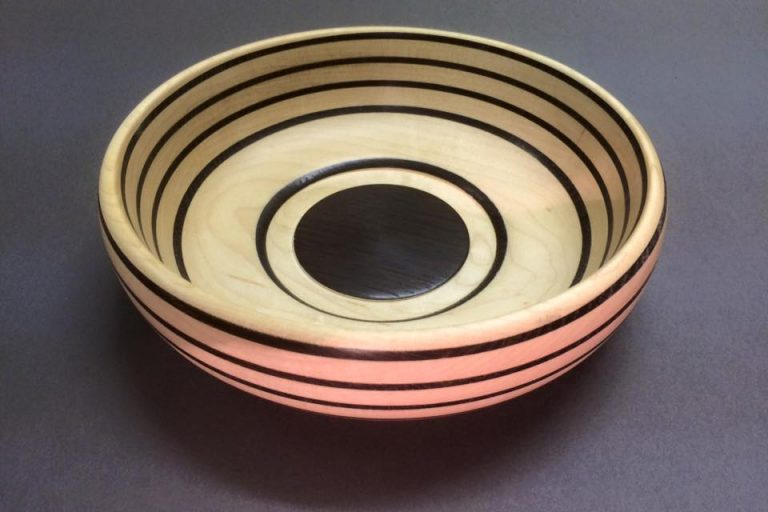 Fumed Oak and Maple Bowl