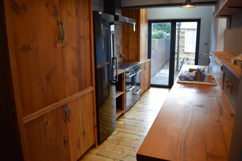 Reclaimed Pine Kitchen 1